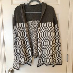 wooden ships open front sweater with hood